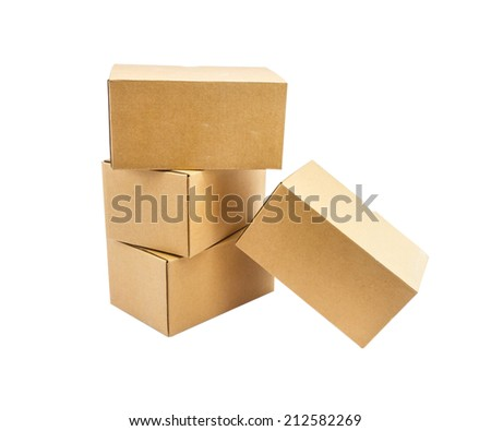 The box on white isolate background for design or decorate project.