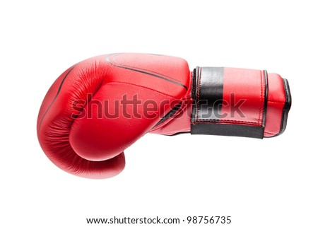 The boxing glove is isolated on a white background - stock photo