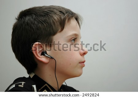 The boy in headphones