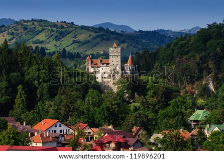 The Bran Castle and Bran city, Transylvania