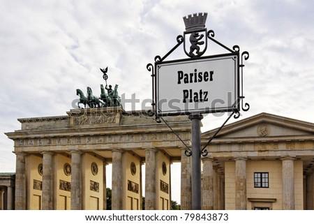 The Brandenburg Gate in Berlin - stock photo