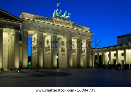 The Brandenburg Gate on the Pariser Platz, Berlin, Germany