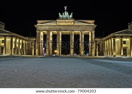 The Brandenburg Gate The Brandenburg Gate in Berlin, Germany, snowed in during christmas time