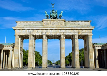 The Brandenburger Tor in Berlin - stock photo