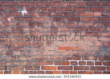 The brick wall like as a background.