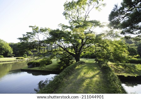 The Bridge Of Rikugien - stock photo
