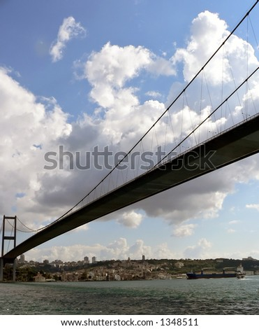 The bridge that links east and west - stock photo