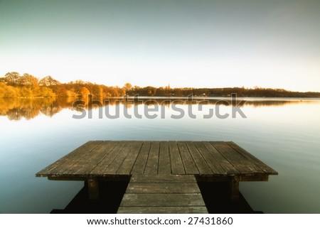 the Bridge to the lake - stock photo