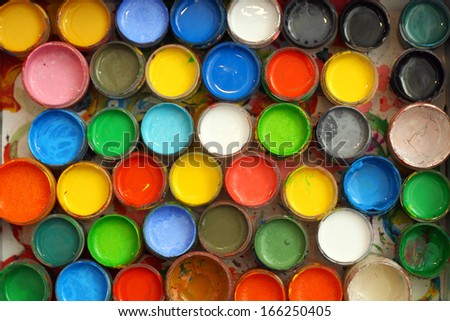 the bright paint colors in the tubes