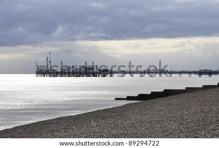 The Brighton Pier in England, UK - stock photo