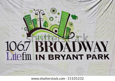 The Broadway at Bryant Park in NYC - a free public event on July 18, 2008 - stock photo