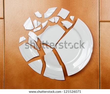 The Broken plate - stock photo