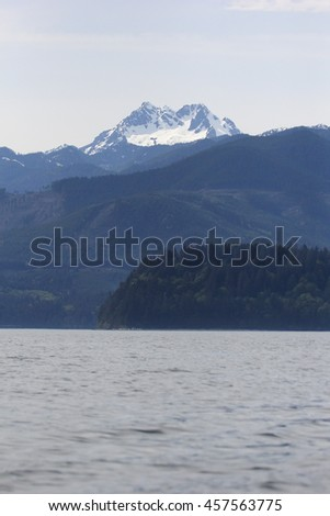 The Brothers Olympic Mountains - stock photo