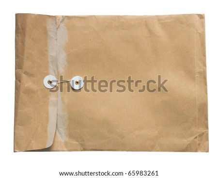The Brown envelope isolated on white background - stock photo
