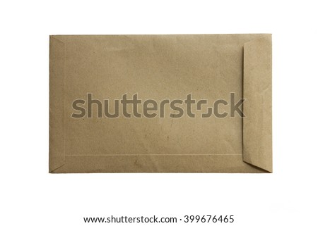 The brown paper envelop on bottom