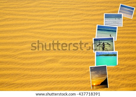 the brown sand dune   in the sahara morocco desert  - stock photo