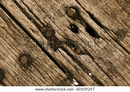 the brown wood texture with natural patterns close up - stock photo