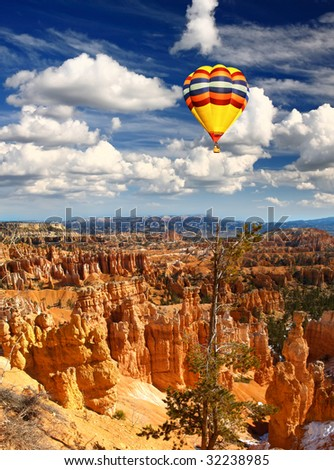 The Bryce Canyon National Park in USA - stock photo