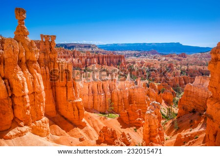 The Bryce Canyon National Park, Utah, United States - stock photo