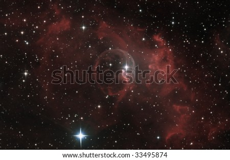 The Bubble Nebula - stock photo