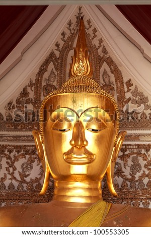 The Buddha Face show good time on everything. - stock photo