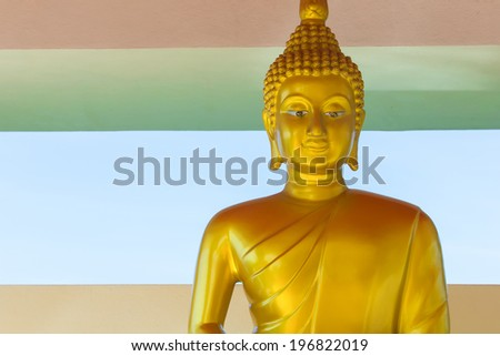 The  Buddha image,  in Thailand. - stock photo