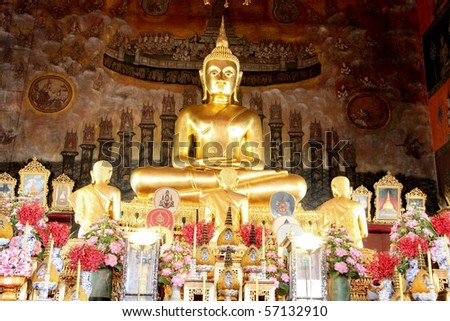 The Buddha image  in the Royal temple - stock photo