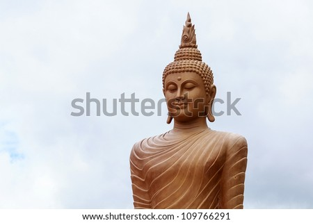 the buddha on wide place. - stock photo