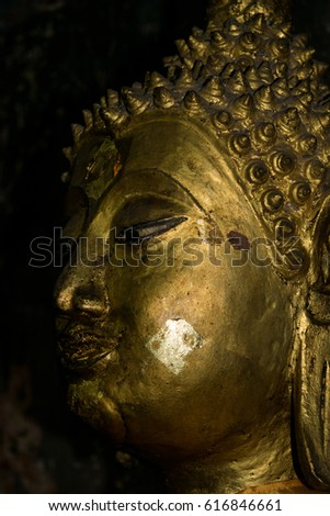 The Buddha statue face