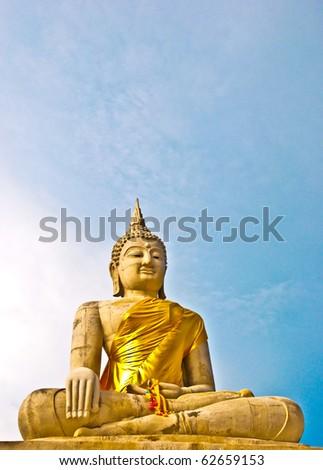 The Buddha status - stock photo