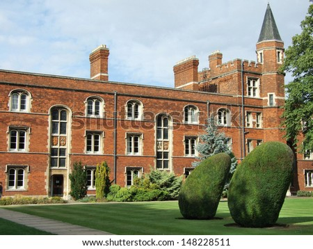 The building of college in Cambridge, England - stock photo