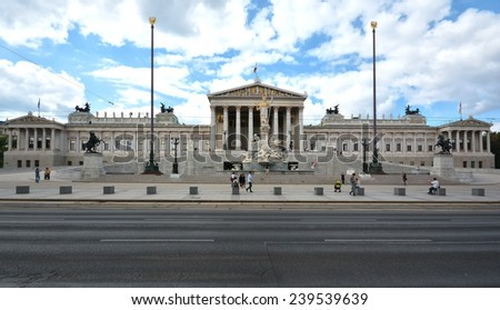 The building of parlament, Vienna  - stock photo