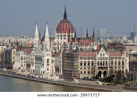 The building of the Parliament, Budapest, Hungary