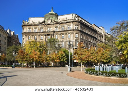 The building on Freedom Square in Budapest, Hungary - stock photo