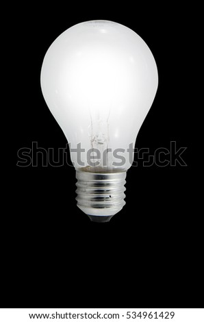 The bulb with a dark background.