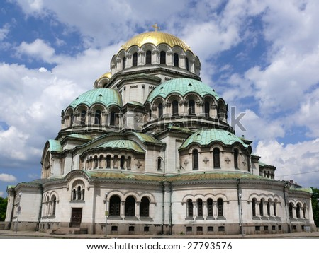 The Bulgarian Church of God - Alexander Nevski, Sofia, Bulgaria - stock photo