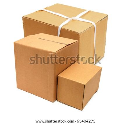 the business carton boxes - stock photo