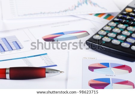The Business the newspaper with a chart - stock photo
