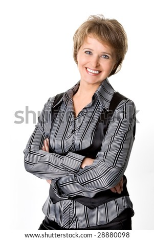 The business woman - stock photo