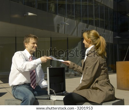 the businessman - stock photo