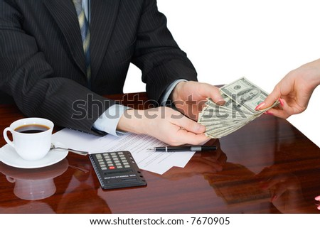 The businessman at the office - stock photo