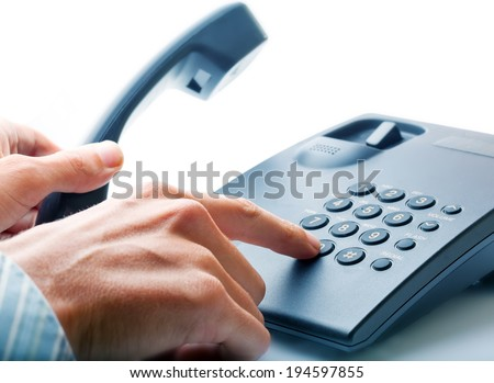 The businessman calling by phone. - stock photo
