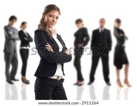 The Businesswoman - elite dream team - people in the background are out of focus