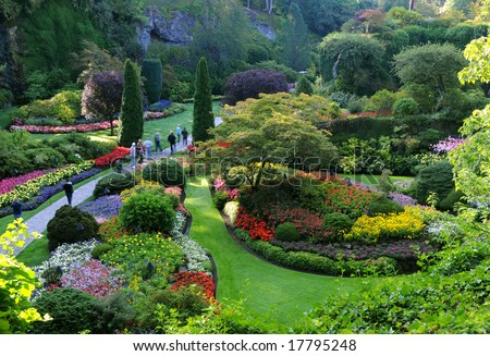 Butchart gardens victoria bc canada stock photo 100 legal the butchart gardens victoria bc canada thecheapjerseys Image collections