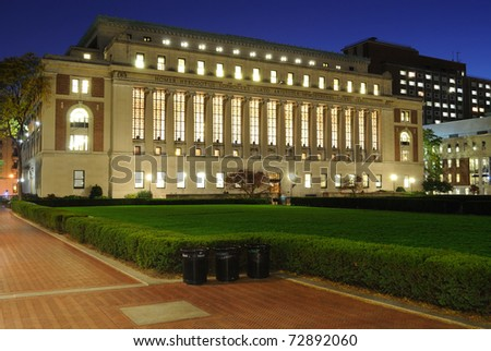 The Butler Library at Columbia University in New York City. - stock photo