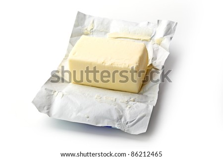 The butter isolated on white background