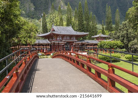 The Byodo-In Japanese Buddhist Temple in Oahu, Hawaii