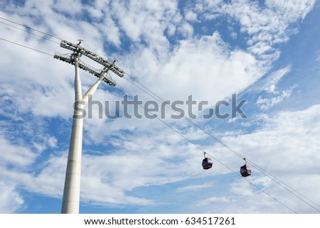 The cable car to Genting Highlands