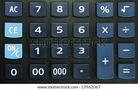The calculator for office