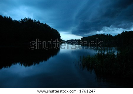 The calm before the storm - stock photo